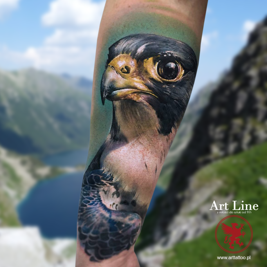 sokół tatuaż artline Poznań