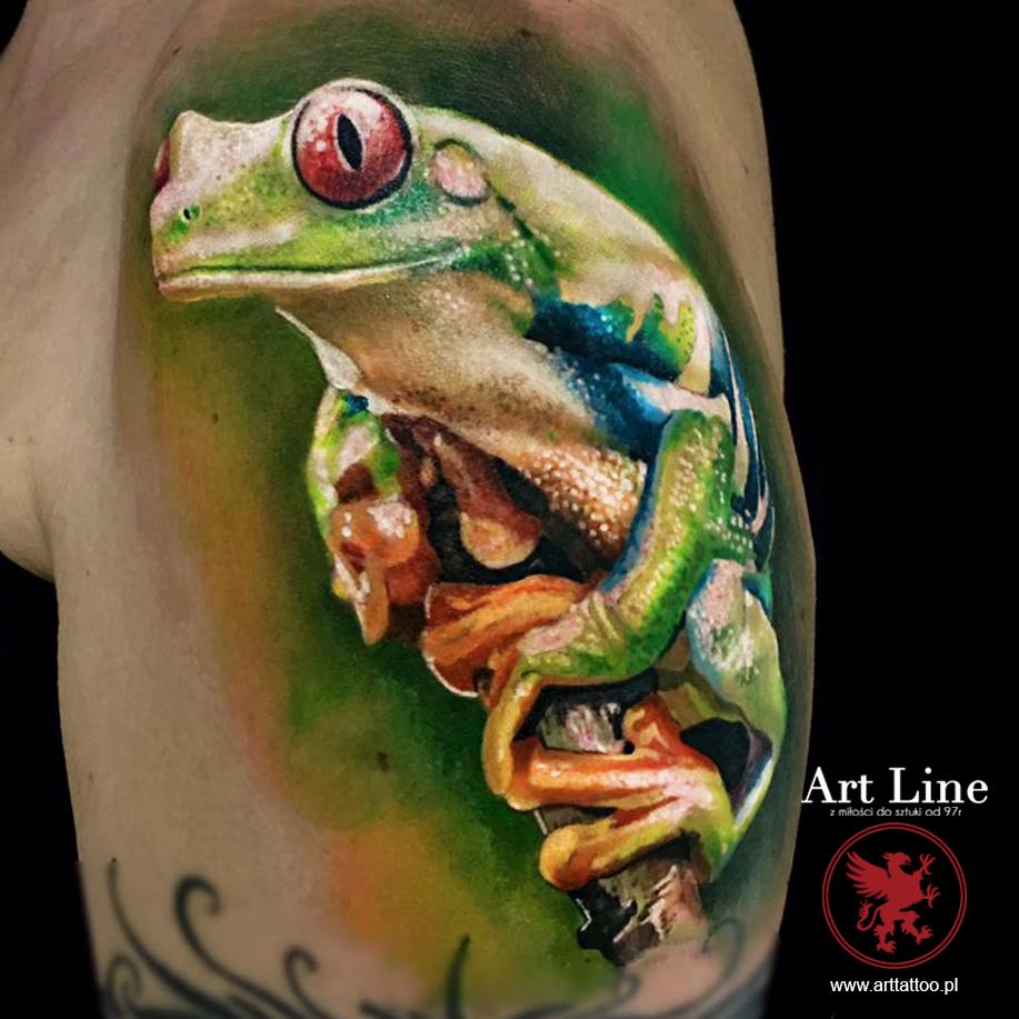 żaba tatuaż